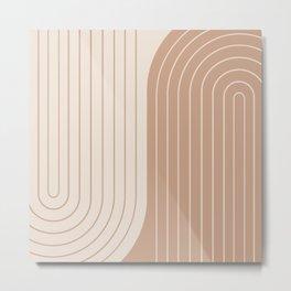 Two Tone Line Curvature XXXIX Metal Print