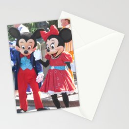 Disneyland 60th Characters - Mickey and Minnie Mouse, Pluto, and Donald Duck Stationery Cards