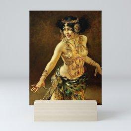 DANCE OF SALOME - LEOPOLD SCHMUTZLER Mini Art Print