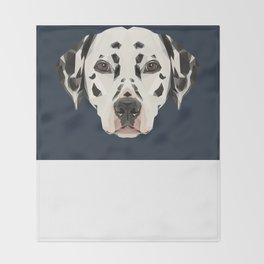 Dalmatian // Navy Throw Blanket