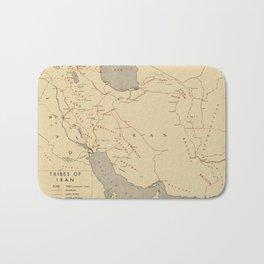 Map Of Iran 1945 Bath Mat