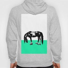 Funny Sad Skater Horse Hoody