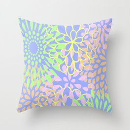 Floral Funk Throw Pillow