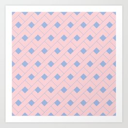 Rose Quartz and Serenity Geometric Art Print