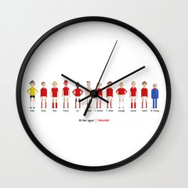 England - All-time squad Wall Clock