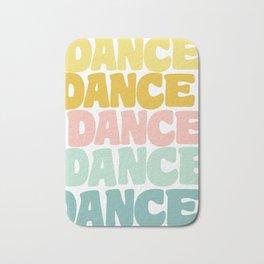 Dance in Candy Pastel Lettering Bath Mat