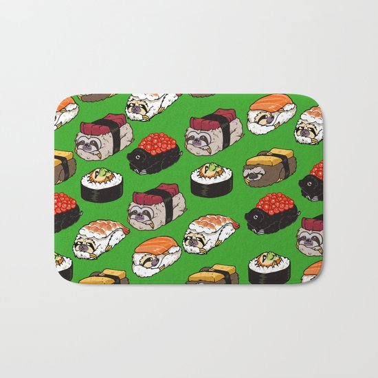 Sushi Sloth Bath Mat