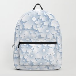 Icy Flower Pattern Backpack