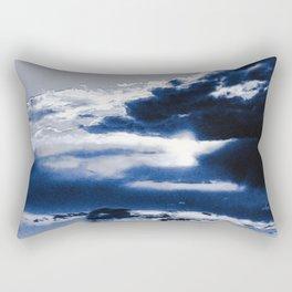 arctic blue landscape Rectangular Pillow