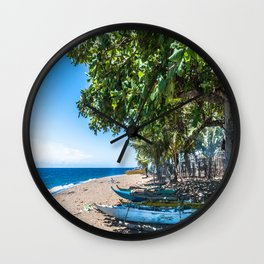 Traditional Kayaks Wall Clock