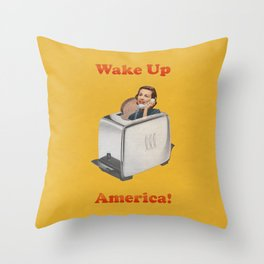 Wake Up Call Throw Pillow
