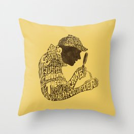 Man of Many Words Throw Pillow