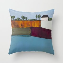 On The Precipice of the Fall Throw Pillow