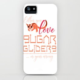Sugar Glider Lover iPhone Case
