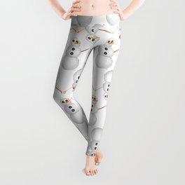 Yarn Snowman Leggings
