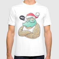 Hipsta Claus White SMALL Mens Fitted Tee