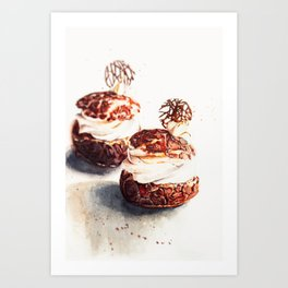 Original watercolor choux  ideas Art Print