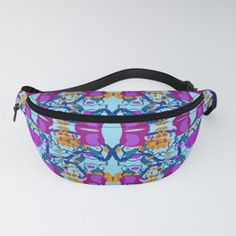 Assorted Floral Layout Under Over Fanny Pack