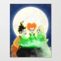 hocus pocus Canvas Prints featuring Hocus Pocus by Angela Vasquez