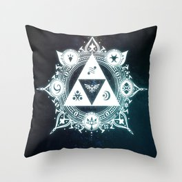 The triforce Power Throw Pillow