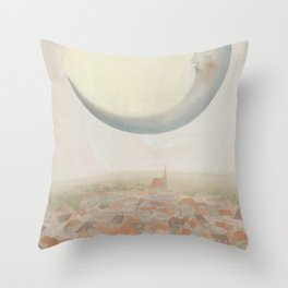 Moon Over Varonia Throw Pillow