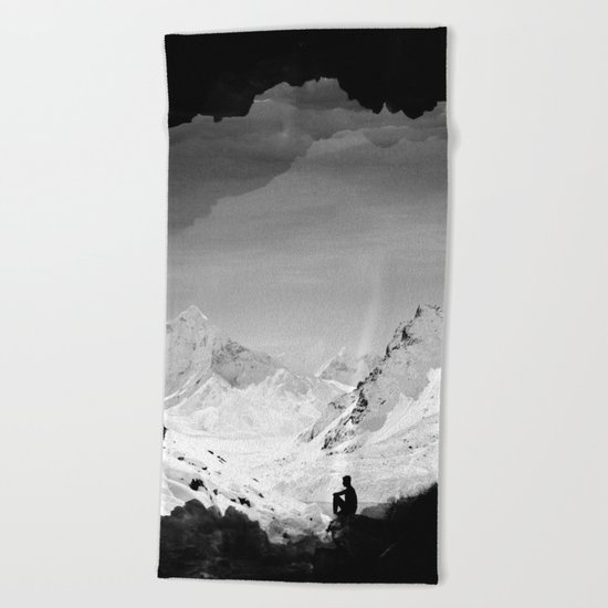 Snowy Isolation Beach Towel