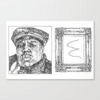 biggie smalls Canvas Prints featuring Biggie Smalls by Samantha Kardos