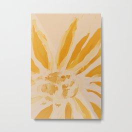 Sun Blooming Flower Metal Print