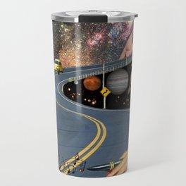 Composing on the Road. *Futuristic / Sci-Fi Surreal Digital Collage.* Travel Mug