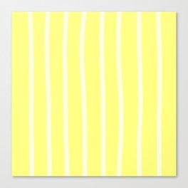 Butter Vertical Brush Strokes Canvas Print