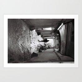walking alone Art Print