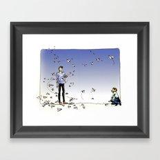 Paper Dart Framed Art Print