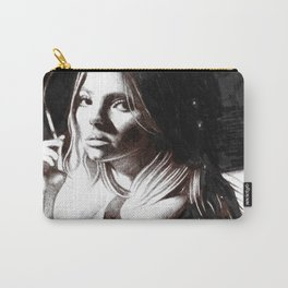 Beauty Model Smoking Sketch Carry-All Pouch