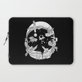 Depth of Discovery (A Case of Constant Curiosity-B/W) Laptop Sleeve