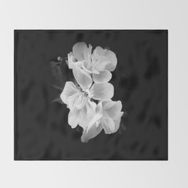 geranium in bw Throw Blanket