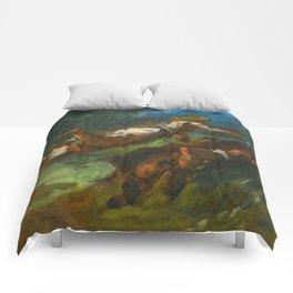 """Eugène Delacroix """"HÉSIODE ET LA MUSE"""" Comforters"""