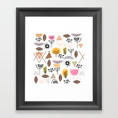 Mid-Century Awesome (Pink) Framed Art Print