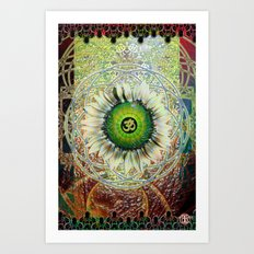 The Eye Om Art Print