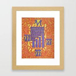 Mameia- Goddess of cocktail rings Framed Art Print