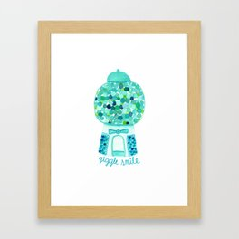 Giggle Smile - Aqua Framed Art Print