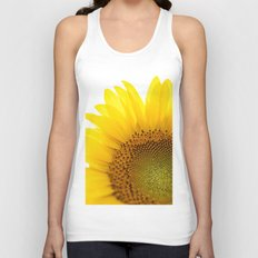 Sunflower Detail - Yellow Unisex Tank Top