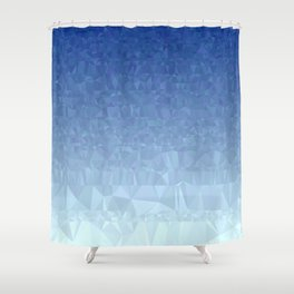 Blue Ombre - Flipped Shower Curtain