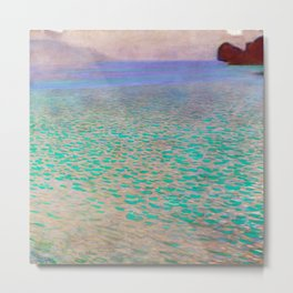Klimt - Lake Attersea (new editing) Metal Print