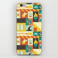 harry potter iPhone & iPod Skins featuring King's Cross - Harry Potter by Ariel Wilson
