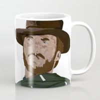 clint eastwood Mugs featuring Clint Eastwood by  Steve Wade ( Swade)