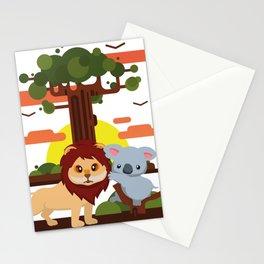 Leo lion & Koalina Stationery Cards