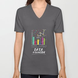 Data Is Beautiful Statistician Unisex V-Neck