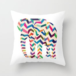 Elephant in the room Throw Pillow