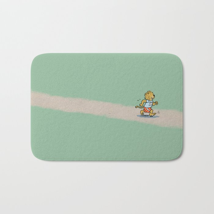 Running Cat Bath Mat