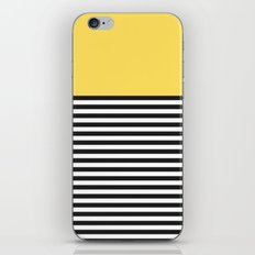 STRIPE COLORBLOCK {LEMON} iPhone & iPod Skin